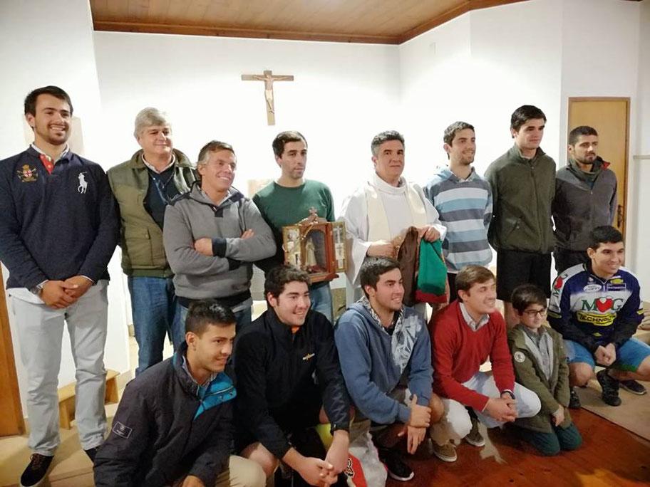 Missa com o Padre Vicente, 20º peregrinação de bicicleta  ao Santuário de Fátima 24 de Novembro - Fátima