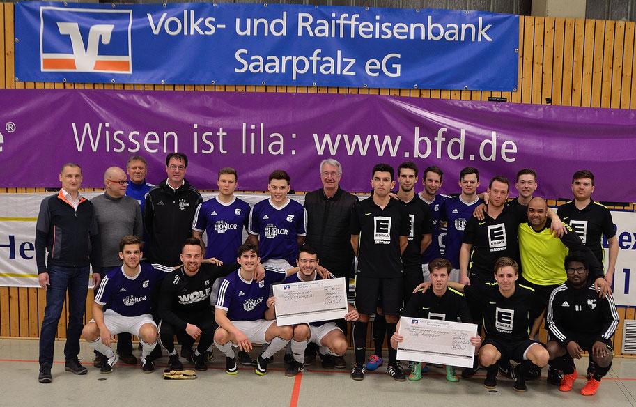 Die Finalisten unseres Masters-Turniers. Sieger der FSV Jägersburg mit 4:1 über den SV Altstadt.