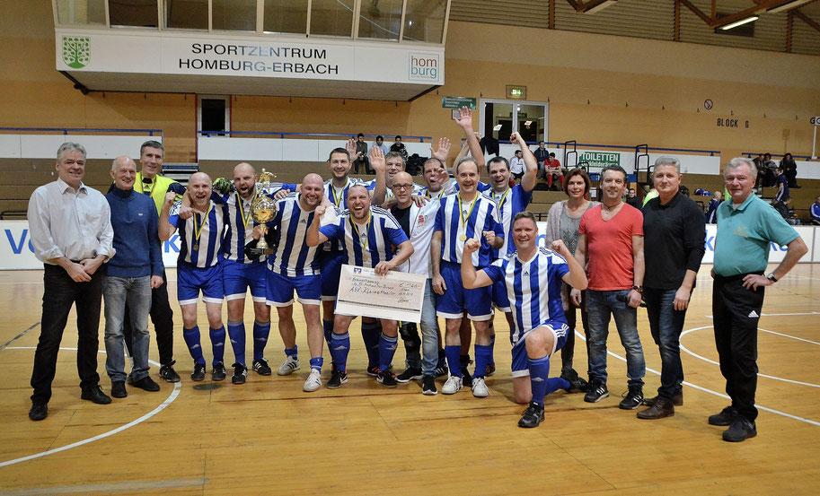 Die Alten Herren der ASV Kleinottweiler sind Sieger der diesjährigen Stadtmeisterschaft in der Halle.