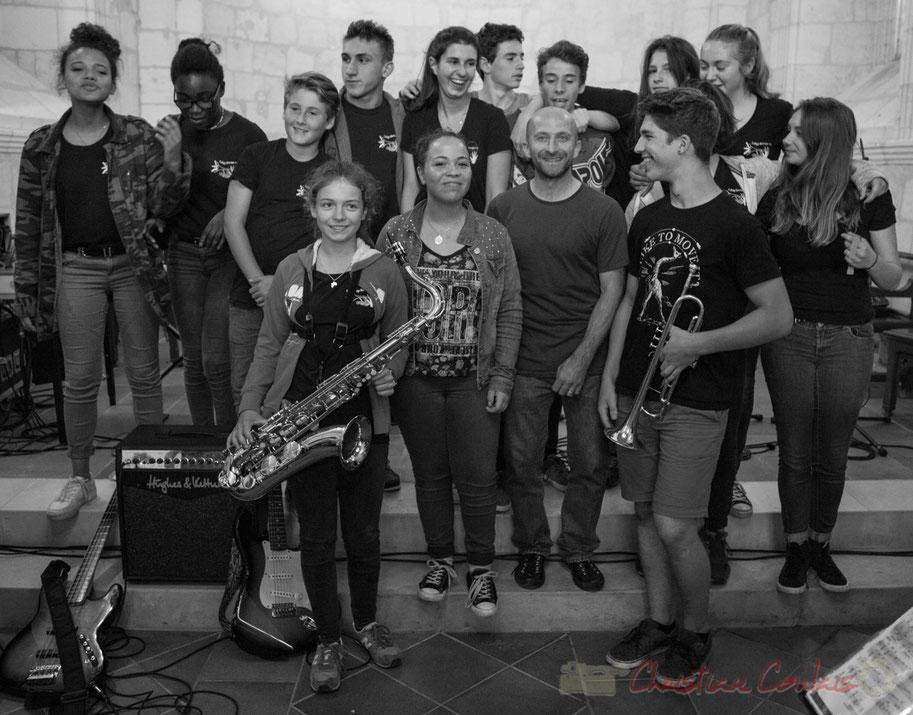 Big Band Jazz du Collège Eléonore d'Aquitaine de Monségur. Eglise Saint-André de Cénac. Festival JAZZ360 2016, 10/06/2016
