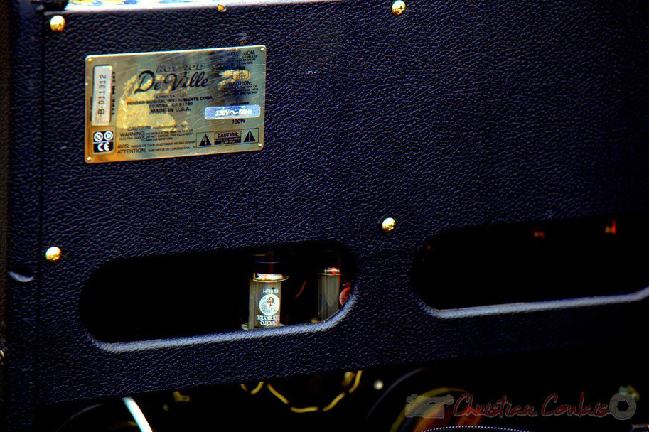 Amplificateur pour guitare, Fender Hot Rod De Ville type PR 247, Festival JAZZ360 2012, Cénac, 09/06/2012