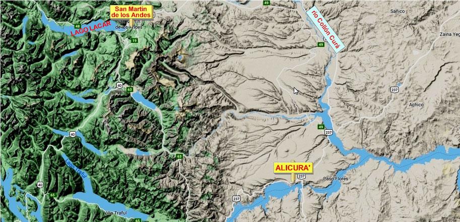 SAN MARTIN DE LOS ANDES DISTA CA. 150 KM DA ALICURA'