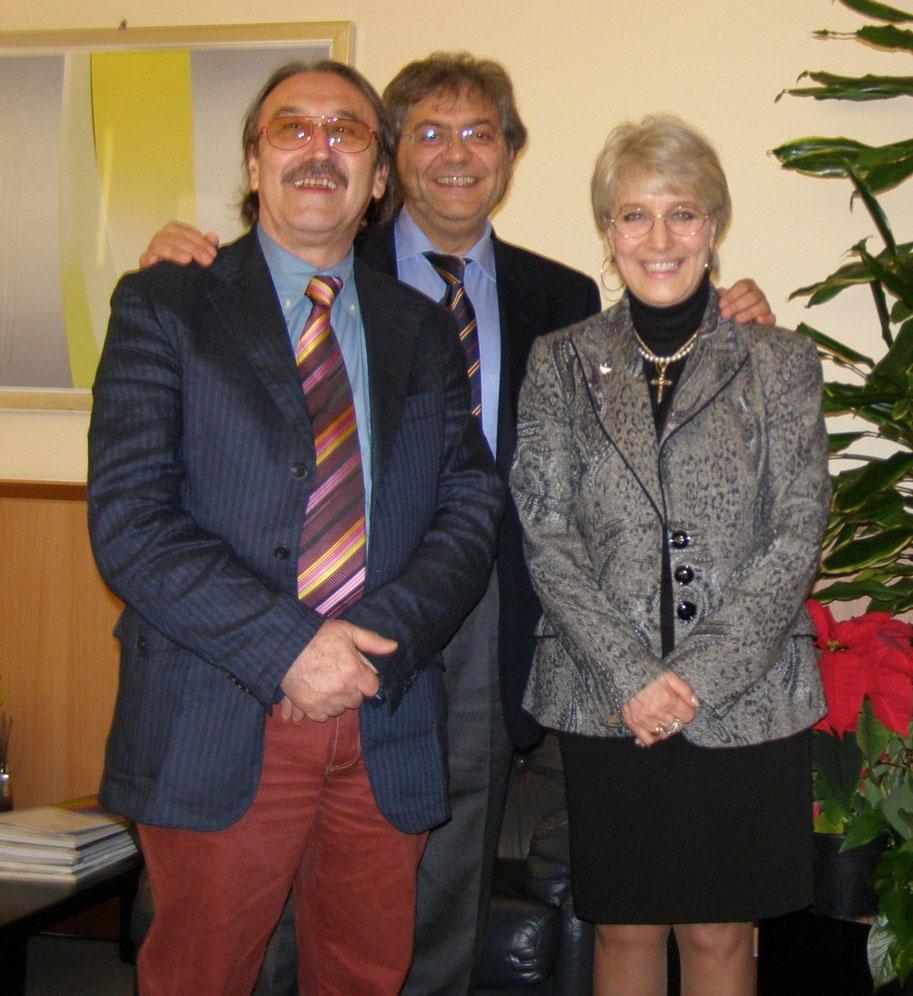 19.12.2009 - Con Ing. Luigi Cresta (Amministratore Delegato e Direttore Generale) e la sua segretaria Dr.ssa Annarita Di Giuseppe