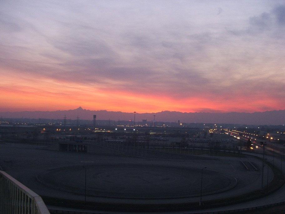 Torino al tramonto vista dagli uffici ATIVA