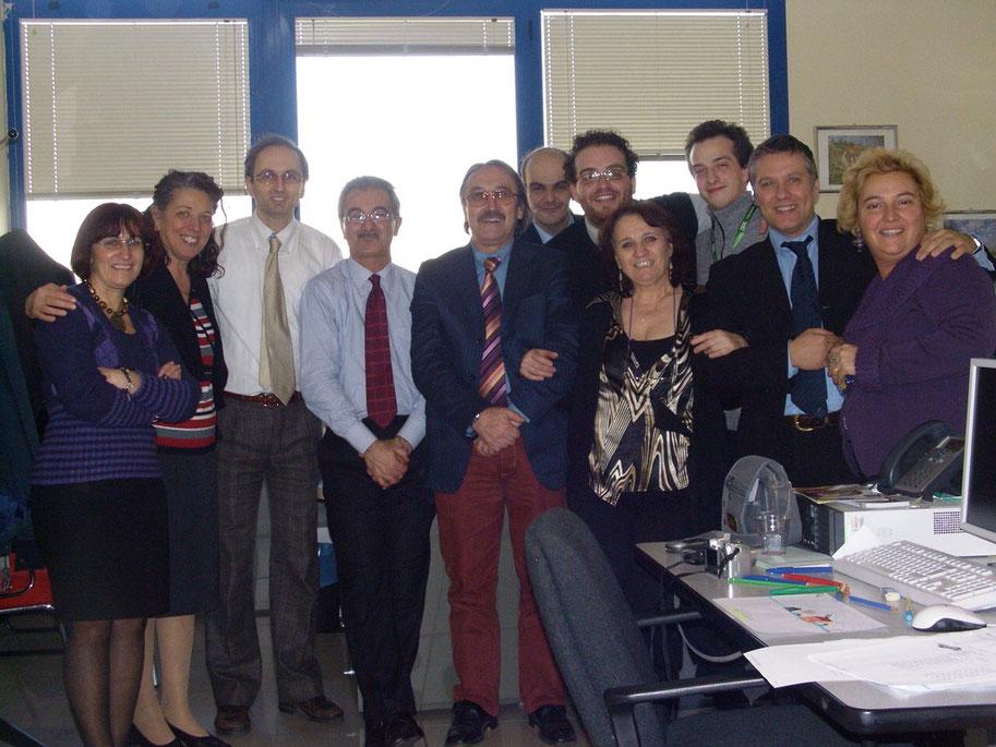 19.12.2008 - Foto con alcuni colleghi prima di andare in pensione
