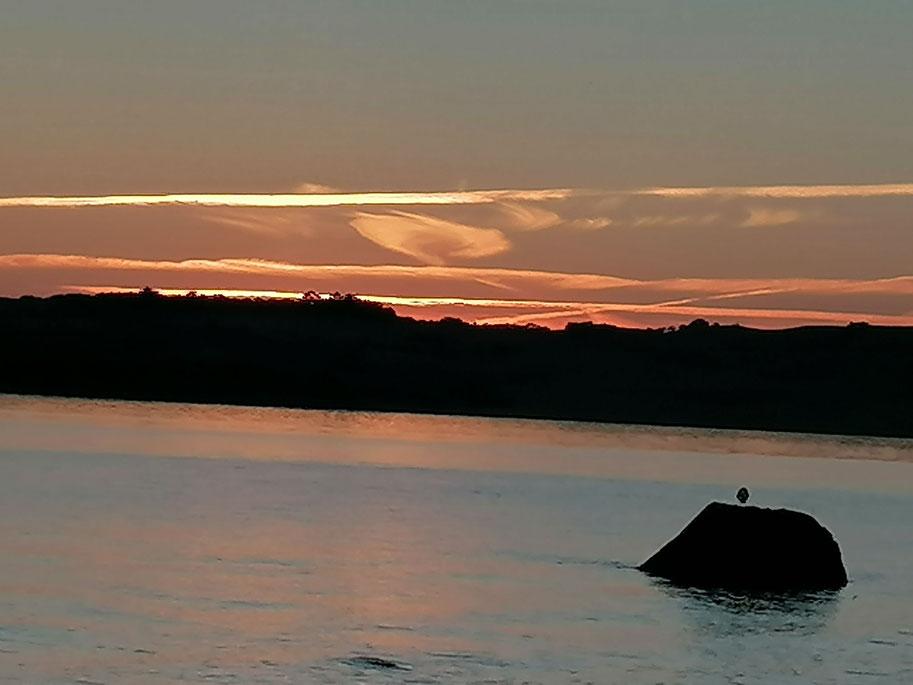 Hier sollte ein Sonnenuntergang auf Rügen zu sehen sein.