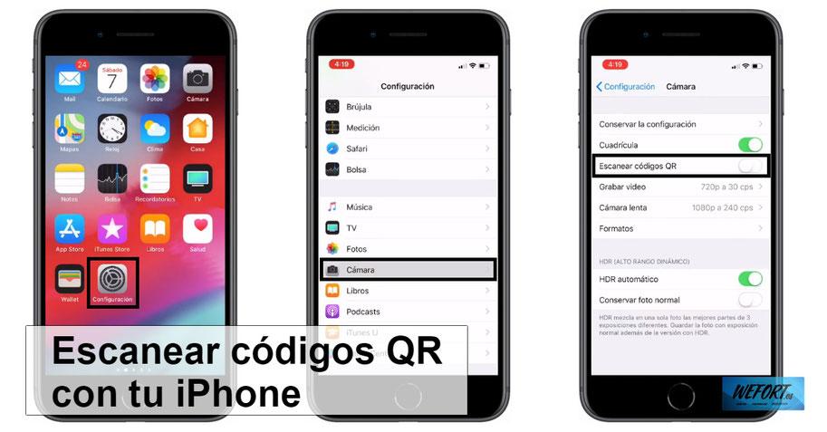 Cómo escanear códigos QR con tu iphone con la cámara sin instalar aplicaciones