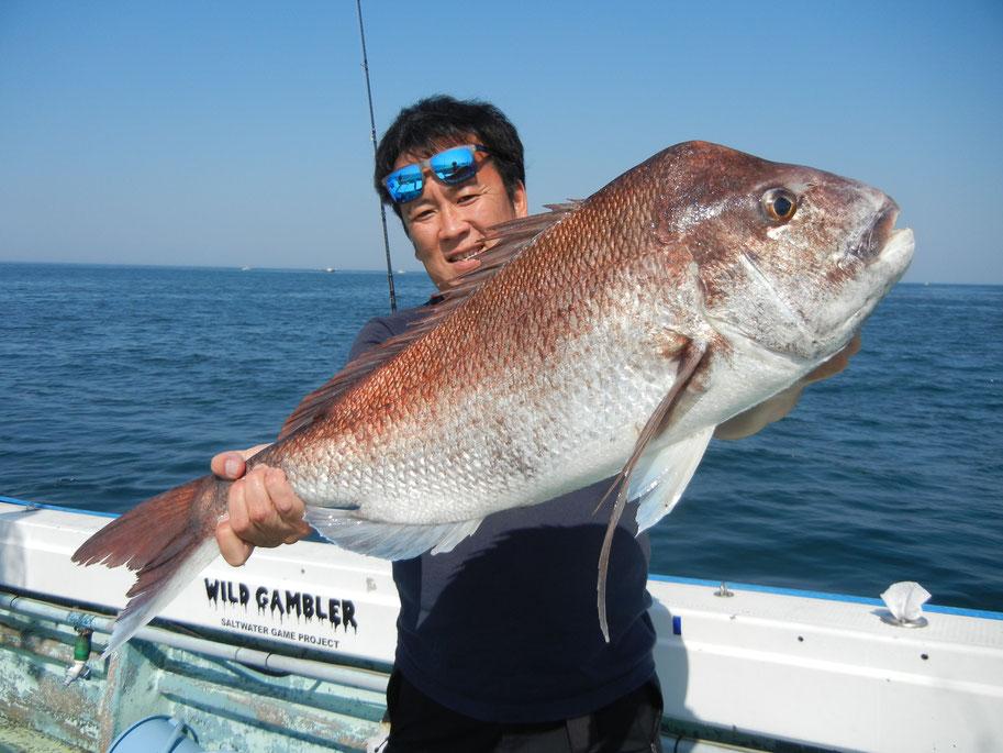 真鯛は80cm近いのが何匹も釣れました。