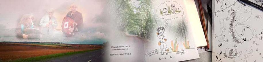 Annonce du 20ème Salon du Livre de Saint-André-en-Morvan en 2017 avec l'illustratrice Cloé Perrotin