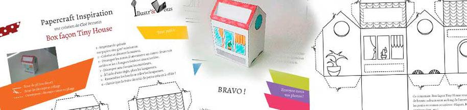 Cloé Perrotin vous présente un DIY papercraft Tiny house pour apprendre à faire un contenant original en papiers découpés