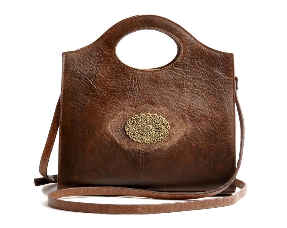 Trachtenhandtasche Leder braun Online-Shop versandkostenfrei