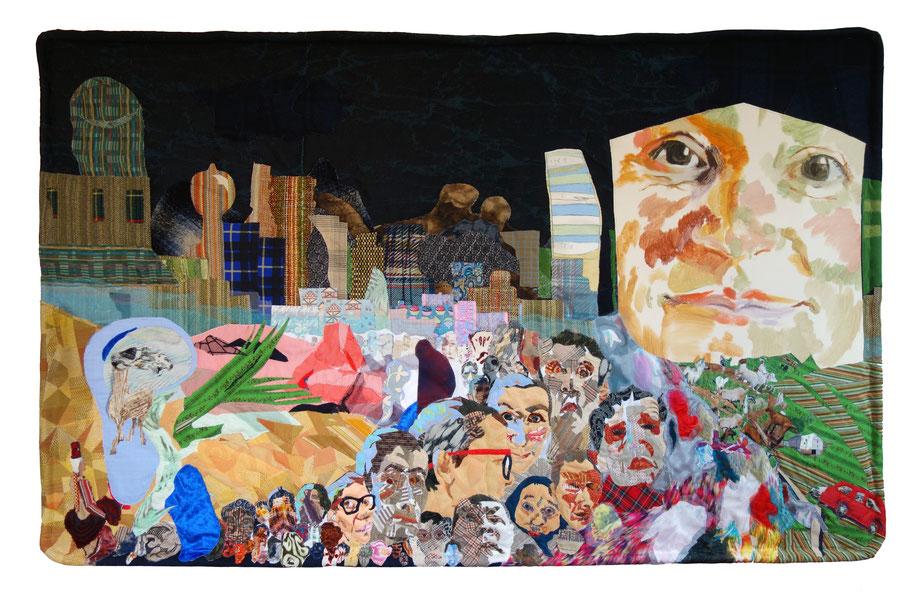 "Vittore Carpaccios ""Vision des Heiligen Augustinus"" als Stoffgemälde, 2016, 50 cm hoch"
