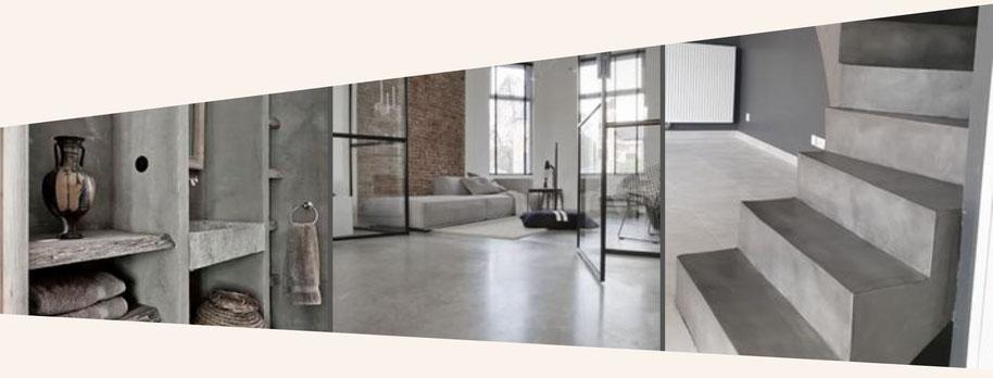 beton look beton vloer wand keuken bad meubel