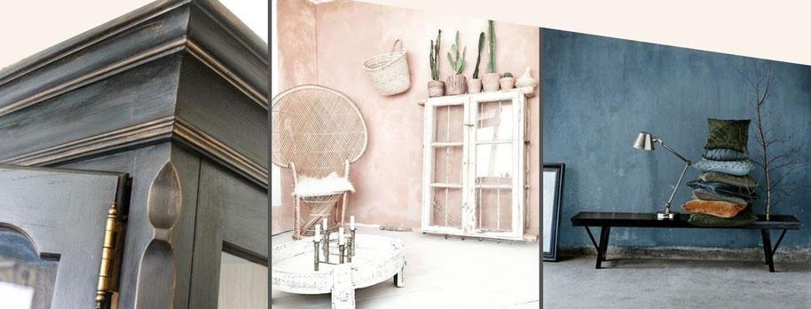 shabba look krijt verf kalk betonlook oud nieuw vintage meubels wand vloer knus diy