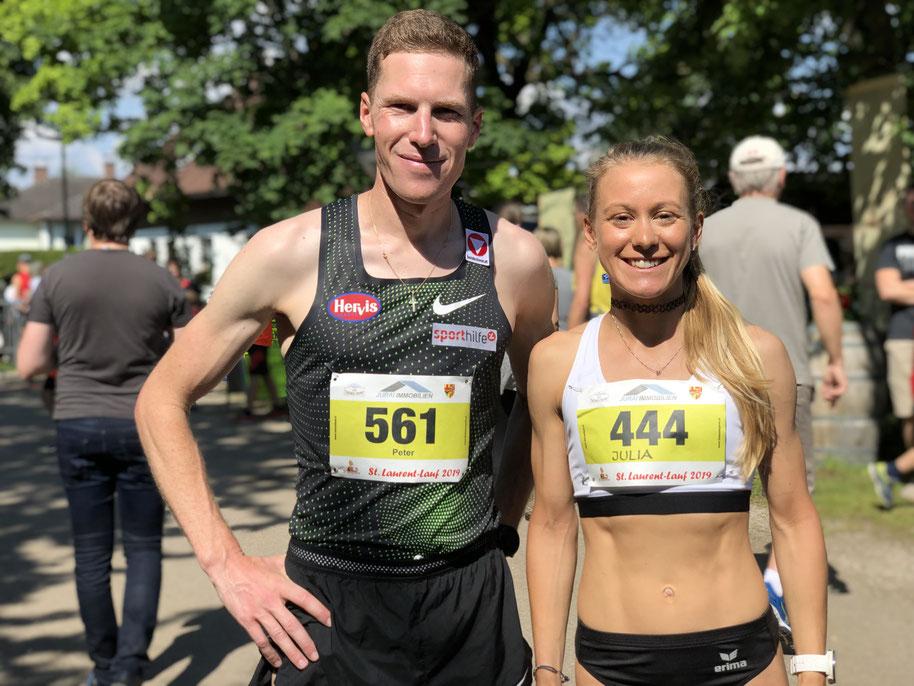 St. Laurent Lauf Tattendorf Österreich Wein Winzer Peter Herzog Europameister Marathon Sieger Julia Mayer Laufen Läuferin Herwig Sporthilfe