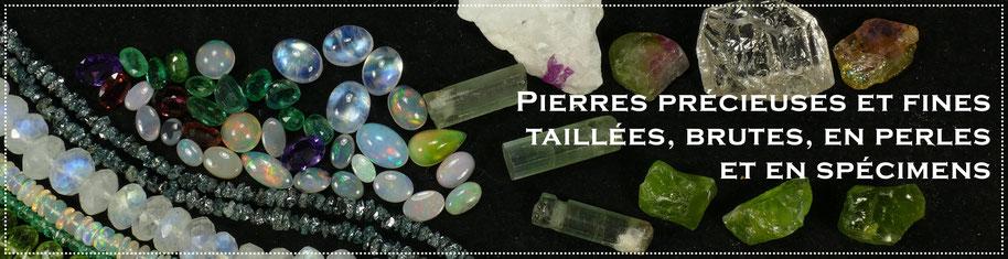 Perles de cultures, pierres précieuses et fine taillées, brutes, en perles, en spécimens - Cultured pearls, specimens, raw, faceted gemstones
