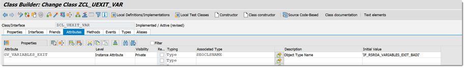 SAP BW/4HANA Add an attribute to our class