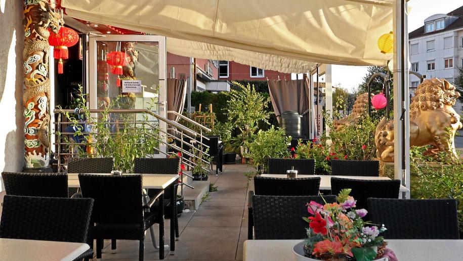 Gartenwirtschaft und kleiner Biergarten in Rheinfelden
