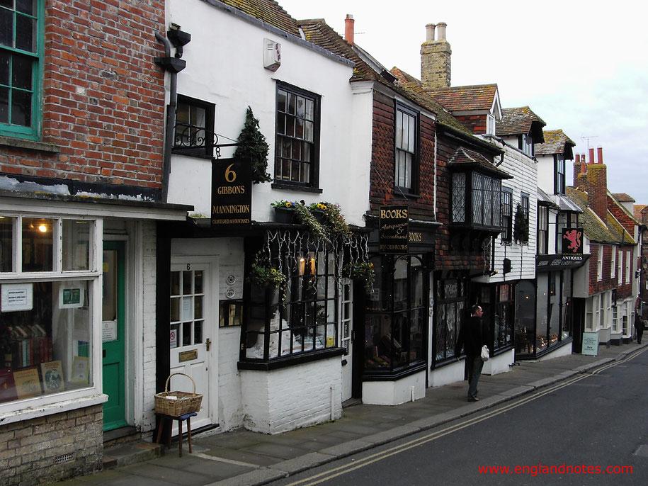 Sehenswürdigkeiten und Reisetipps Rye, England: Historische Straßen in Rye