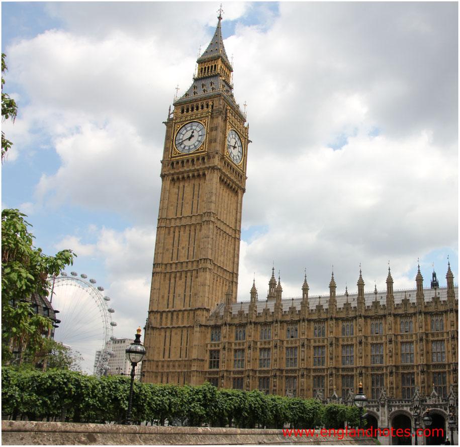 Die besten Sehenswürdigkeiten in London: Big Ben und Houses of Parliament