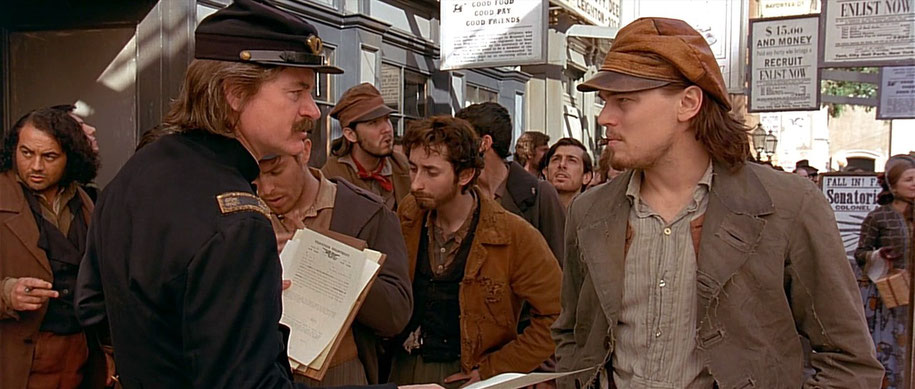 Leonardo Dicaprio Confrontates a Police Officer On A Movie Set Exerpt / Gangs of New York Special Scene / U.S Director Martin Scorsese Accomplished Great Work