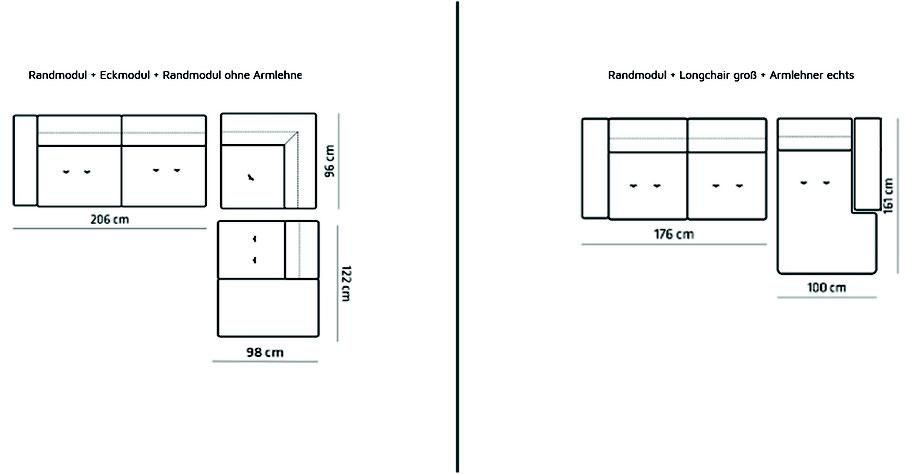 MÖBELLOFT Design Sofa HIMMEL als Einzelsofa, Ecksofa oder Wohnlandschaft - einzigartig gemütlich und im zeitlosen Design