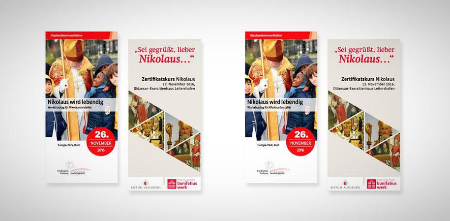 Info-Flyer zu den Zertifikatskursen im Bistum Augsburg am 12. November und in Rust am 26. November