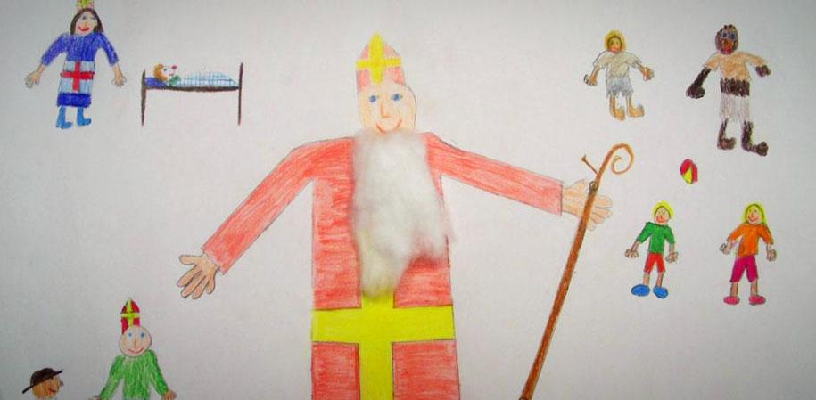 Kreative Umsetzung vom Wirken und Handeln des heiligen Nikolaus