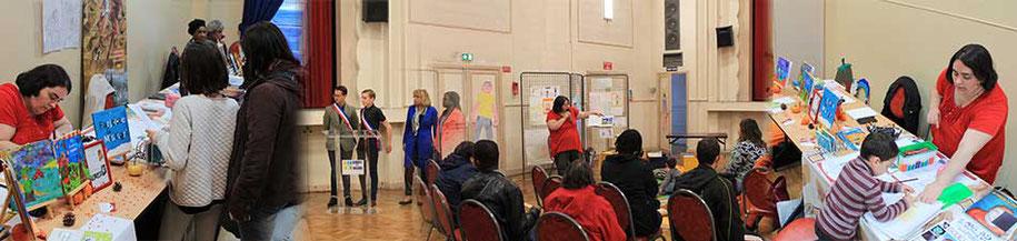Visuel d'annonce de la rétrospective du Forum Culturel de la Différence de Crépy-en-Valois 2017 avec l'illustratrice Cloé Perrotin
