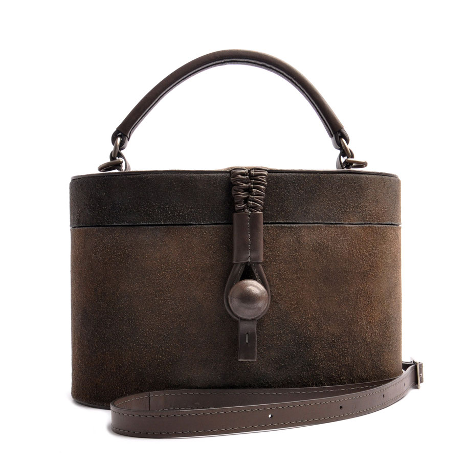 Handcrafted Leather Bag CAMILLE grey Leather Manufactory  OSTWALD Traditional Craft
