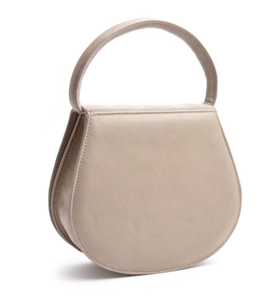 Edle Trachtentasche grau  Leder versandkostenfrei bestellen OSTWALD Traditional Craft