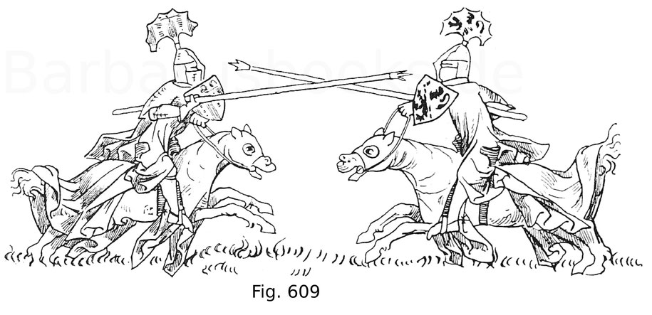 Fig. 609. Abbildung eines Gesteches. Aus dem Codex Balduini Trevirensis von ca. 1330.