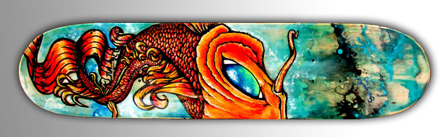 koi fish skateboard