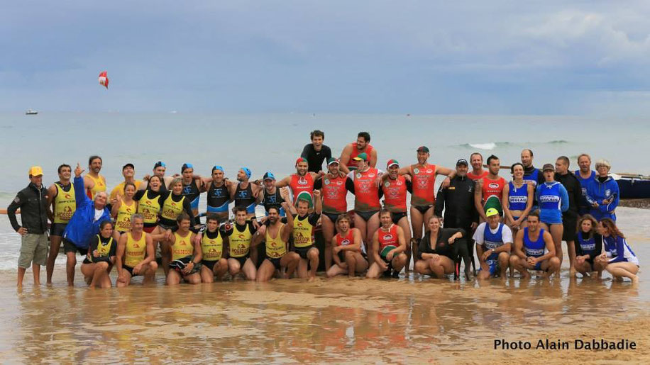Photo de groupe championnat de France surfboat 2014