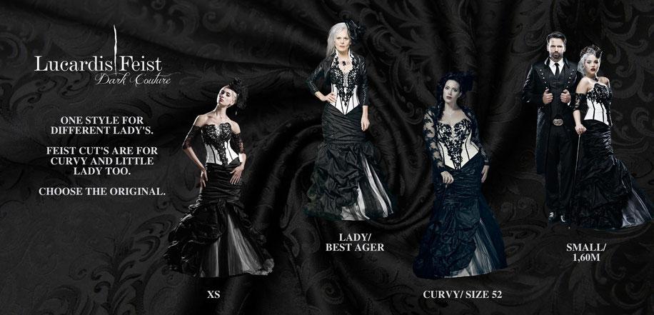 extravagante brautkleider, farbige brautmode, coole brautkleider, rote brautkleider, schwarze brautmode, schwarzes brautkleid, gothic brautkleid, steampunk hochzeitskleider, coole brautmode, spezielle brautmode