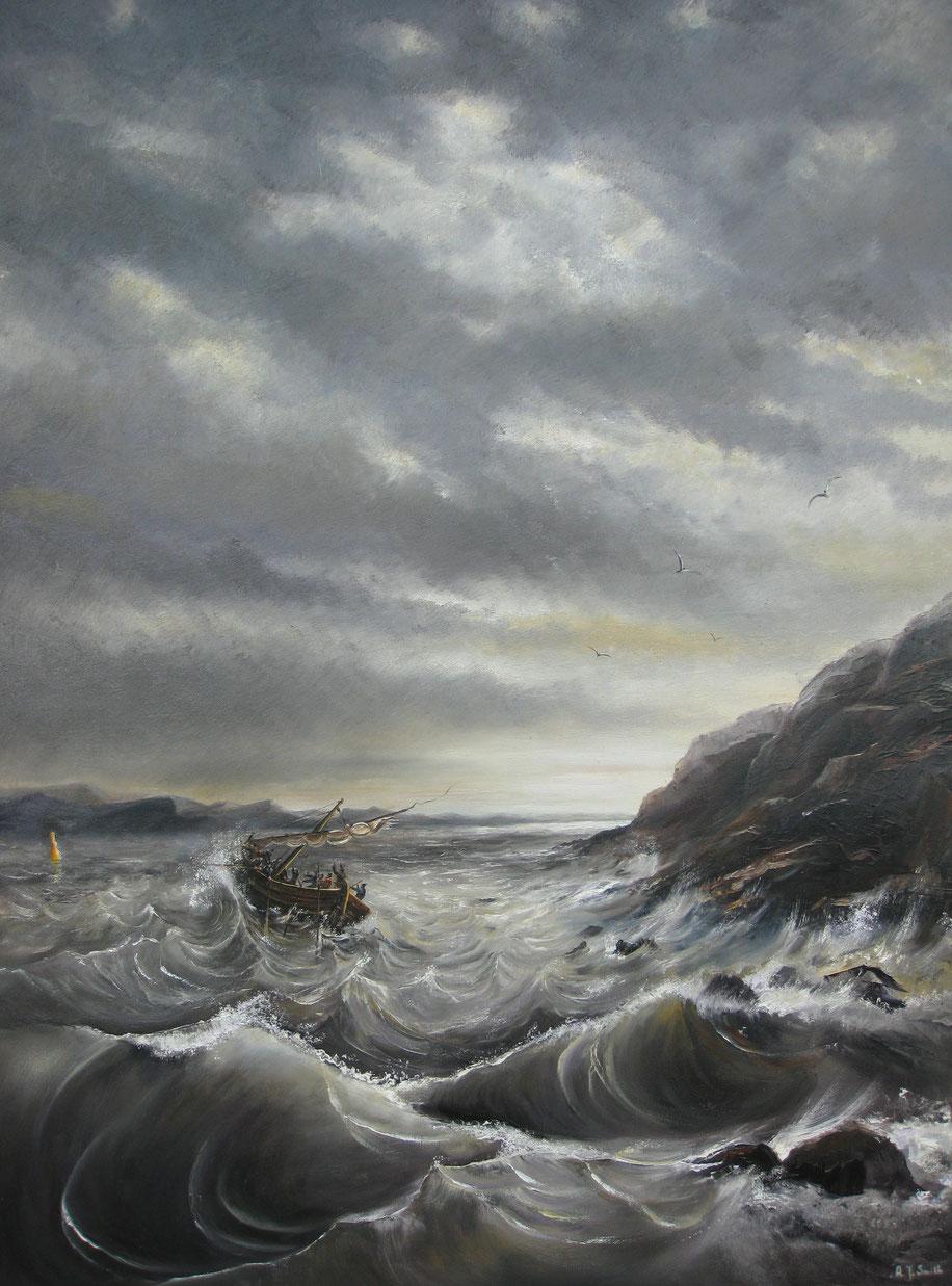 """"""" Storm op het meer van Galilea                 """" Want ze hadden niet gelet op het TEKEN der broden """"                                          Jezus sprak:          """" Ik ben het Ware Brood uit de Hemel  dat de wereld het leven geeft !"""