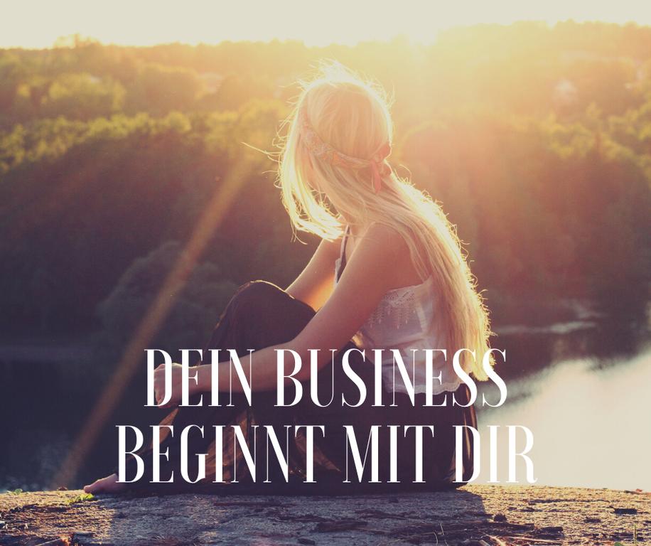 Junge Frau - Dein Business beginnt mit dir