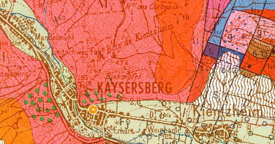 Carte géologique du Grand Cru Schlossberg