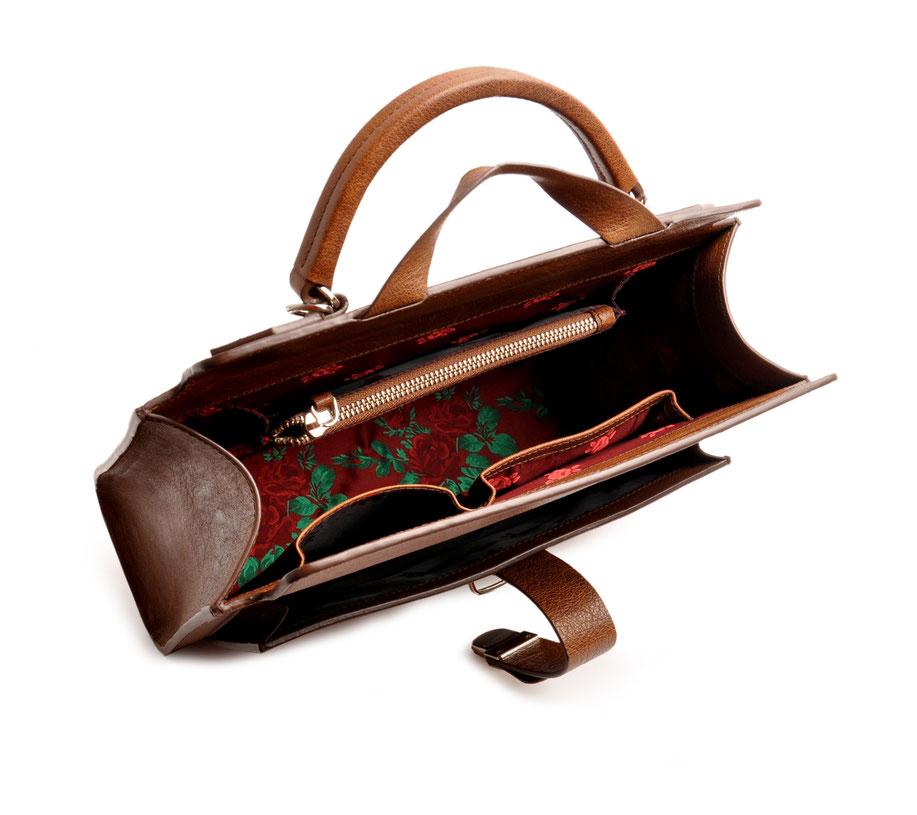 COLETTE Ledertasche Vintagestil Schulranzen Leder cognac OSTWALD Traditional Craft