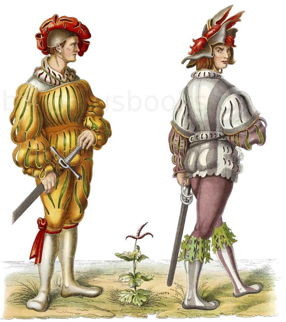 Landsknechte aus der ersten Hälfte des 16. Jahrhunderts