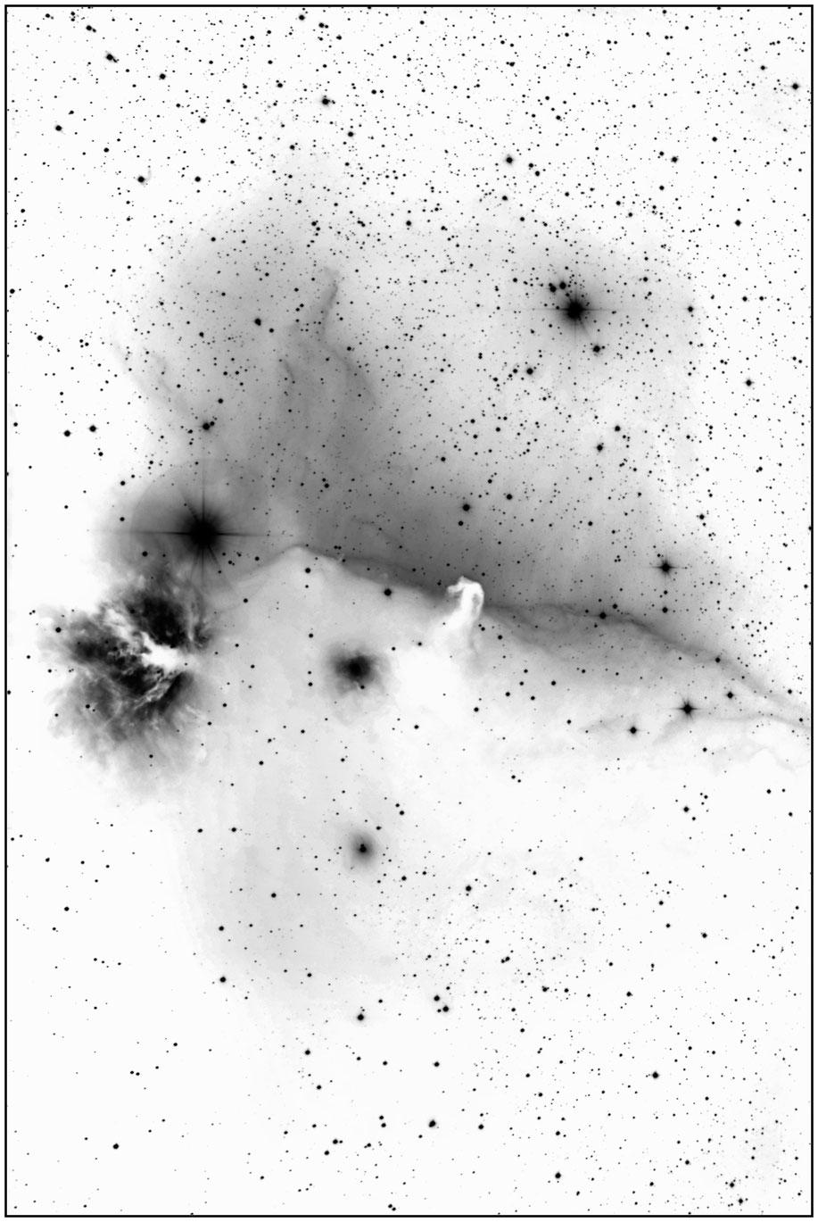 IC 434 • LBN 954, Sh-2 277  - Invertierte Aufnahme - MeixnerObservatorium