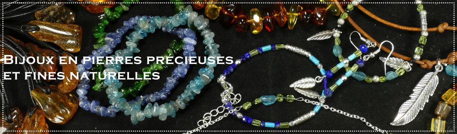 Bijoux en pierres précieuses et fines naturelles - Jewelry made of natural precious and semi precious stones