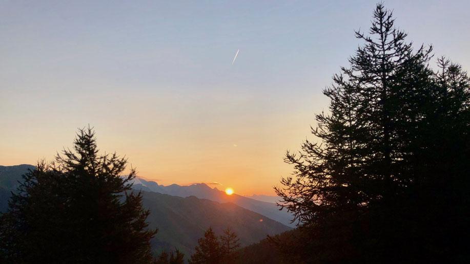 Berghuhn.de, Frankreich, Via del Sale, Ligurische Grenzkammstrasse, Sonnenaufgang