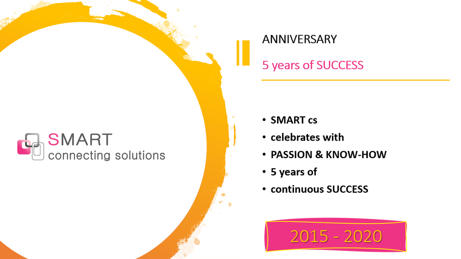 SMART cs celebrates five years of continous SUCCESS based on our PASSION & our KNOW-HOW. (2015-2020)