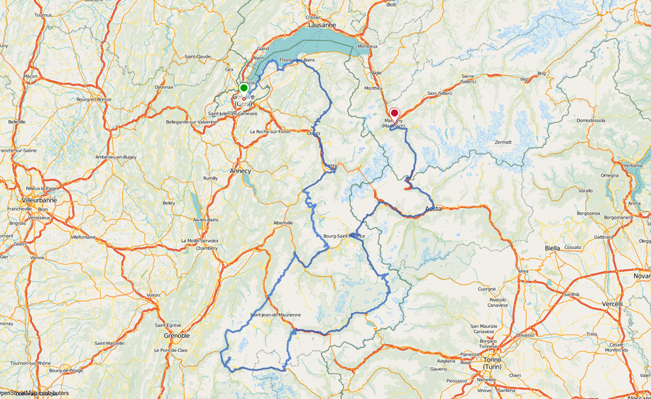 Fahrradtour, Frankreich, Bon courage, eplatzer, Sigma Pure GPS, Monte Bianco