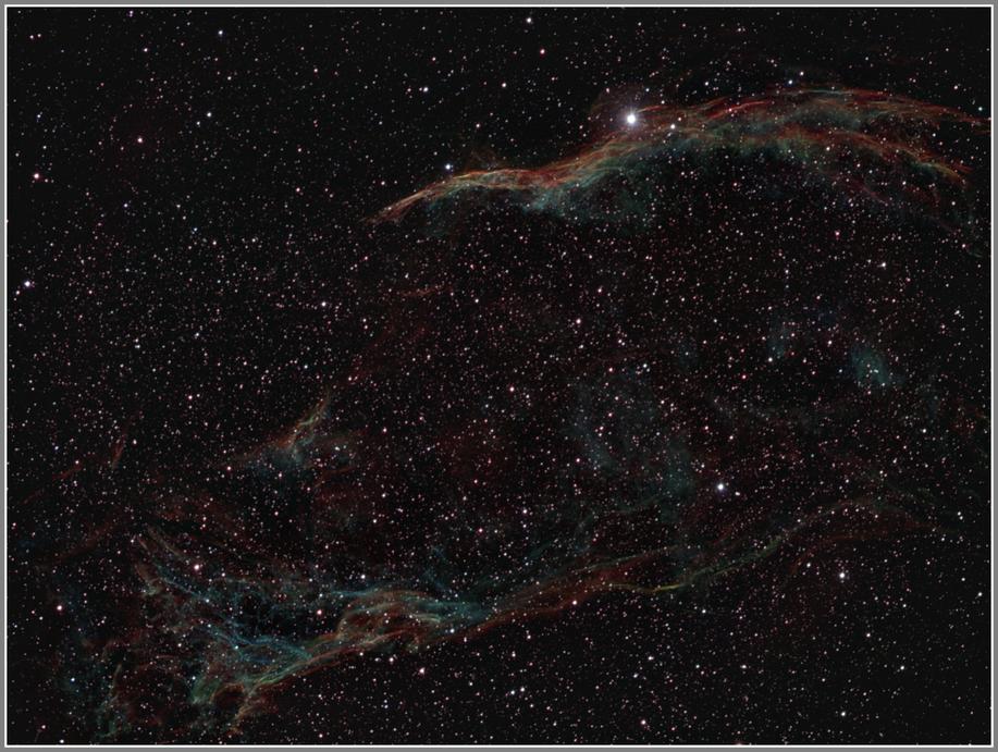 NGC 6960 und Pickering´s Triangle - Erste Schmalbandaufnahme mit Halpha-, OIII und SII Filter - MeixnerObservatorium