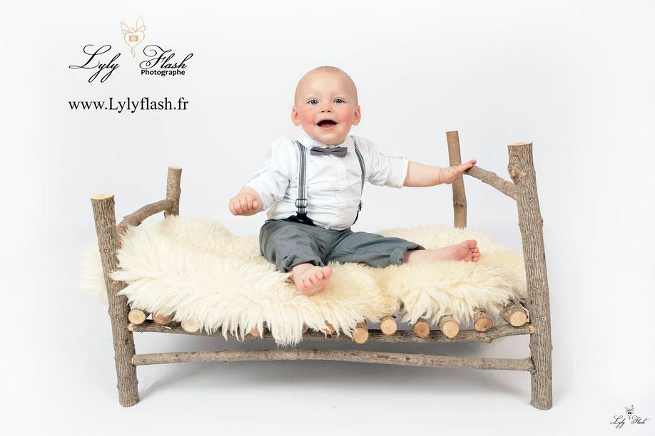 photographe bébé var lit bois