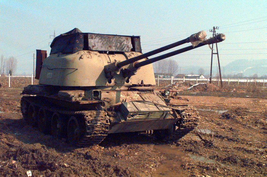 Le ZSU-57-2, héritier des flakpanzers allemands, est rapidement dépassé face à l'aviation moderne