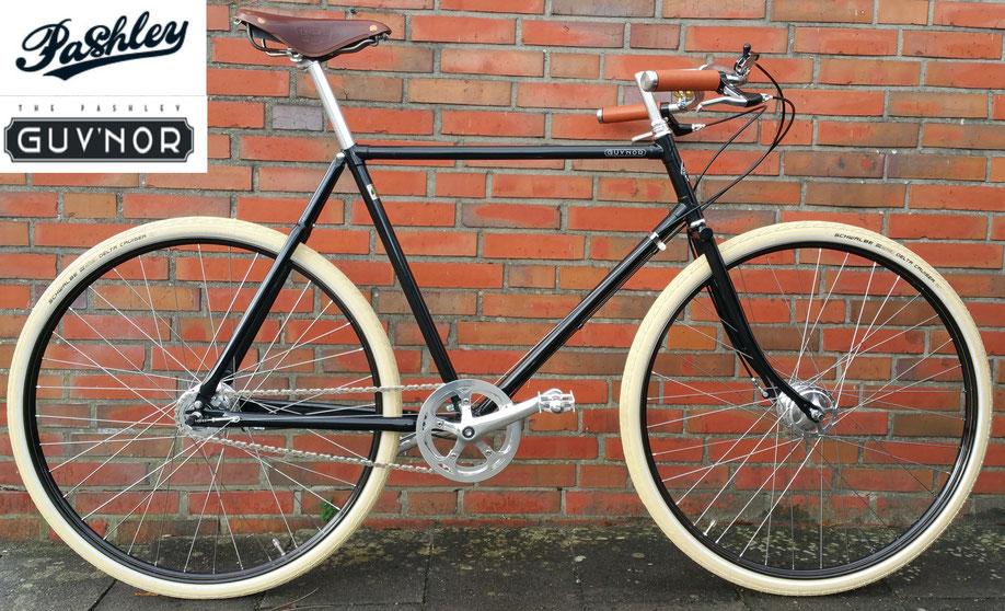 """Das PASHLEY GUV'NOR wird mit 26"""" und  mit 28"""" Laufrädern gebaut ! Lieferung in 1 Gang und in 3 Gang möglich ! In 24,5"""" (RH 62cm) mit DOPPEL- Oberrohr"""
