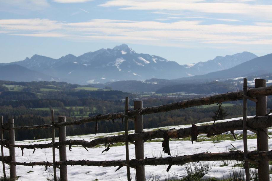 Wie schön Bayern sein kann! Blick auf den Wendelstein. (Foto: Thomas Klotz)